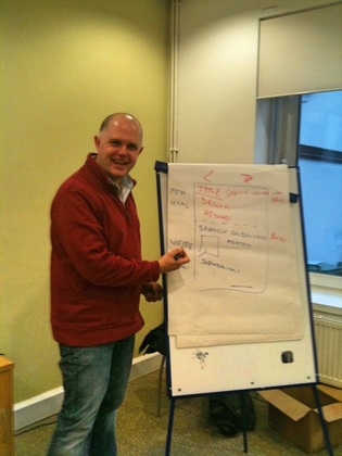 Running an action planning workshop for Willoughby PR, Birmingham
